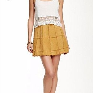 Free People Cow Leather Mini Skirt